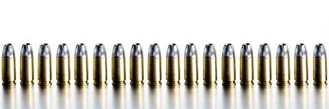 Kogels 9mm hoge contrastbanner Stock Afbeeldingen