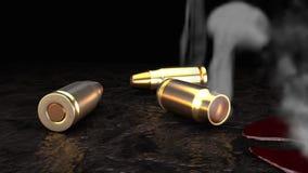 Kogels in bloed 3 stock illustratie