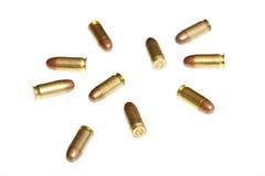Kogels die op wit worden geïsoleerd stock foto