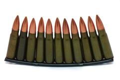 Kogels op de witte achtergrond Royalty-vrije Stock Foto
