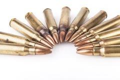 Kogels op wit Royalty-vrije Stock Afbeeldingen