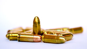 Kogels op witte achtergrond Royalty-vrije Stock Foto