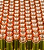 Kogels in rijen Stock Foto