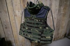 Kogelvrij militair vest stock foto's