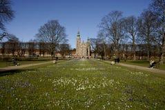 KOGENSHAVE _ROSEBORG PALACE_SPRING I DANMARK Royaltyfri Fotografi