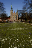 KOGENSHAVE _ROSEBORG PALACE_SPRING I DANMARK Fotografering för Bildbyråer