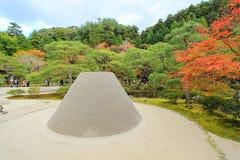 Kogetsudai,Ginkaku-ji,Kyoto,Japan. Ginkaku-ji(Temple of the Silver Pavilion)-a Zen temple that represents the Higashiyama Culture of the Muromachi period Royalty Free Stock Image