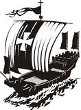 Kogg. Medieval crusader ship in vector format Stock Photo