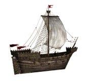 Koggen - mittelalterliches Segelschiff Lizenzfreie Stockfotografie