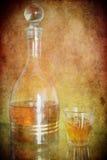 Kognak in einer Flasche Lizenzfreie Stockfotografie