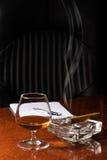 Kognak und Zigarre Stockbilder