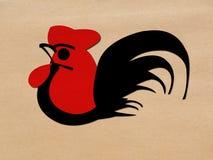 Kogut czerwona pozycja Zdjęcie Royalty Free