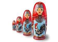 Kogut - symbol nowy rok Obrazek na lali matr obrazy stock
