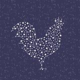 Kogut - Szczęśliwy nowego roku 2017 symbol na nieba tle royalty ilustracja
