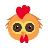 Koguta karnawału Ptasia maska Koguta kurczaka karmazynki ptactwo ilustracja wektor