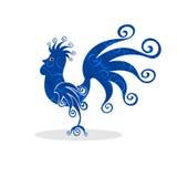 Koguta rocznika sylwetki wzoru bajecznie ptak royalty ilustracja