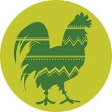 Koguta symbol Chiński nowy rok royalty ilustracja