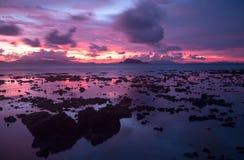 Koh ηλιοβασίλεμα Yao Yai, Phuket, Ταϊλάνδη Στοκ φωτογραφία με δικαίωμα ελεύθερης χρήσης