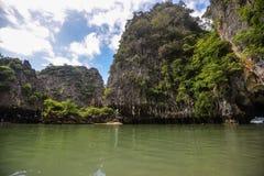 Koh κόλπος της Hong Phang Nga κοντά σε Phuket, Θάλασσα Ανταμάν στοκ φωτογραφία με δικαίωμα ελεύθερης χρήσης