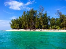 Koh νερό και ουρανός νησιών Bulone σε Satun Στοκ φωτογραφία με δικαίωμα ελεύθερης χρήσης