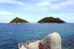 Koh νησιά Nang Yuan, από Koh Tao, Ταϊλάνδη Στοκ Εικόνα
