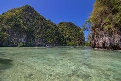 Koh το νησί της Hong είναι διάσημη λιμνοθάλασσα γύρου στη andaman θάλασσα, Krabi, Ταϊλάνδη Στοκ Φωτογραφία