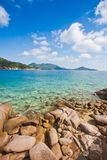 Koh το νησί tao είναι δημοφιλής εξωτικός τουρισμός για το σκάφανδρο κίνησης με ένα όμορφο υπόβαθρο τοπίων φύσης στοκ φωτογραφία