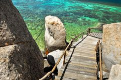 Koh Дао воды бирюзы - остров рая в Таиланде. Стоковая Фотография