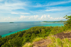 KOH ADANG : Viewpoint Chado cliff on Koh Adung Stock Images
