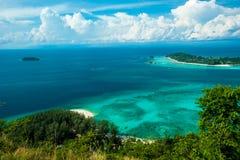 KOH ADANG : Viewpoint Chado cliff on Koh Adung, Satun Thailand Stock Photo