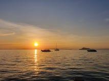 Koh cênico yao yai Tailândia da opinião do por do sol do nascer do sol fotografia de stock