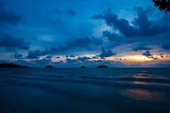 Koh Chang, заход солнца Таиланда Стоковые Фотографии RF
