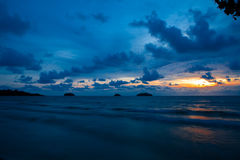 Koh Chang, coucher du soleil de la Thaïlande Photos libres de droits