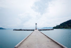 Koh Chang island habor view with cloudy sky, Thailand Stock Image