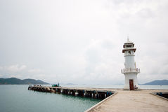 Koh Chang island habor view with cloudy sky, Thailand Royalty Free Stock Photography