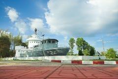 Koh Chang Naval Battle Memorial som är trad, Thailand royaltyfri foto