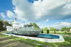 Koh Chang Naval Battle Memorial som är trad, Thailand arkivfoton