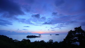 Koh Chang sunset stock video