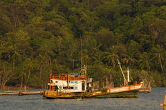 Koh Chang, Thailand.  Many of Ko Chang's villages rely o Stock Photography