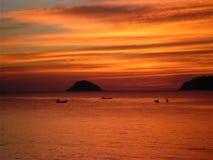 Koh Chang-zonsondergang Royalty-vrije Stock Afbeeldingen