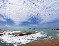 Koh de kust van Samui na de grote overstroming Stock Fotografie
