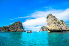 Koh Ha is mean number five island good place for swimming and sn Royalty Free Stock Photography