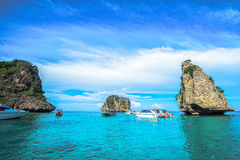 Koh Ha is mean number five island good place for swimming and sn Royalty Free Stock Image