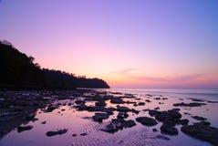 Koh het eiland van Rok bij zonsopgang, Krabi, Thailand Stock Afbeelding