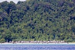 Koh het zuiden van Surin bij nationaal park Surin Stock Afbeeldingen