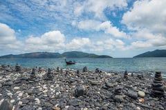 Koh Hin-Ngam da ilha de Lipe na província de Satun de Tailândia do sul foto de stock