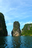 Koh Hong Island en la bahía de Phang Nga cerca de Phuket, Tailandia Imagenes de archivo