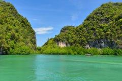 Koh Hong island is famous tour lagoon in andaman sea ,Krabi prov Stock Photo