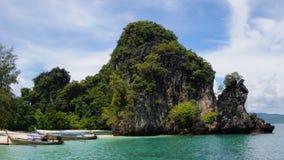 Koh Hong Island på den Phang Nga fjärden Arkivfoton