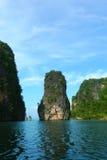 Koh Hong Island på den Phang Nga fjärden nära Phuket, Thailand Arkivbilder